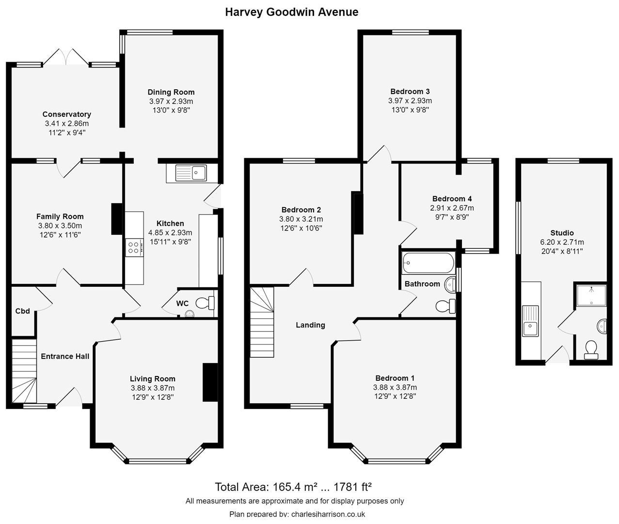 Floor plan Harvey Goodwin Avenue, Cambridge
